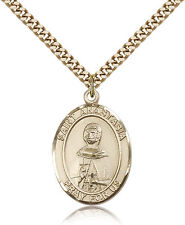 """Saint Anastasia Medal For Men - Gold Filled Necklace On 24"""" Chain - 30 Day Mo..."""