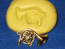 French Horn Charm Silicone Push Mold 973 For Cake Chocolate Resin Candy Jewelry
