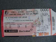TICKET R. STANDARD DE LIEGE - LIVERPOOL  2008/2009  C.L.
