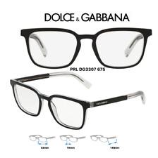 d4f840d240f5 Dolce & Gabbana DG3307-675 Eyeglass Frames Mens Black Size 53mm (RX)  Authentic