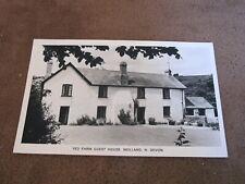 1970s Devon Real Photographic postcard -Yeo Farm Guest House - Molland Exmoor