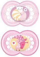 MAM 706022 - Ciuccio Original in silicone per bambine dai 16 mesi in su, senza B
