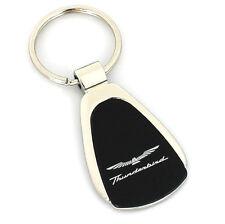Ford Thunderbird Black Tear Drop Metal Key Ring