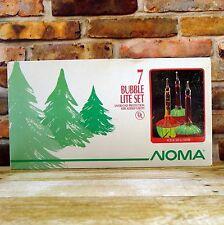 NOMA 7 Bubble Lite Set Vintage Christmas Lights Red Orange Green