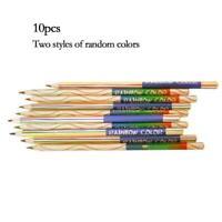 10pcs/set Rainbow Colors Pencil 4 in 1 Colored Drawing Art Pencils Painting U8T8