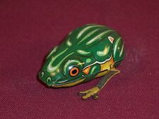 Vintage Wind-up Tin Toy Hopping Frog US Zone Germany