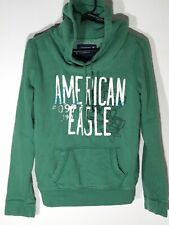 American Eagle Hooded Green Sweatshirt With Pockets Comfy