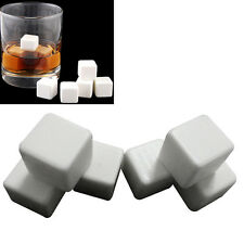 Ceramic Stone Ice Cubes Chillers for Whiskey Wine Beverage Drinks 6PCS