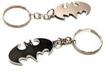 BATMAN Retro style black chrome Classic DC Comics Full Metal Keychain cosplay