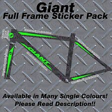 Giant full frame sticker kit, protecteurs, custom, mbk, vélo, vtt, route, cycle