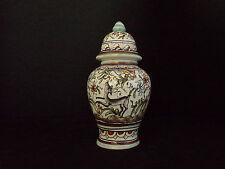 Vase sur Pied Ceramique  Louca De Coimbra N° 52  Décor Floral // Animal