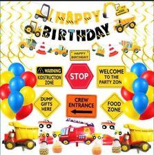 Construction Birthday Party Supplies Dump Truck Party Decorations  Set 59 pcs