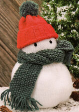 "Snowman Toy ~ Xmas Decoration ~ Doorstop 11"" High/28cm Knitting Pattern"
