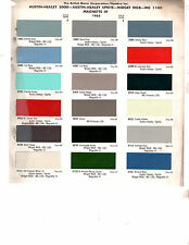 1956 1957 1958 1959 1960 TO 1968 AUSTIN HEALEY MG MGB MAGNETTE PAINT CHIPS 65 D3