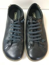 Camper Womens Peu Cami Black Leather Grey Lo Trainers Casual Slip On Shoes EU40