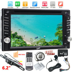 "6.2"" Screen Car DVD CD Player 2 Din Stereo Radio Bluetooth Phone GPS Navi USB SD"