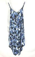 Tommy Bahama Indigo Garden Scarf Dress Women's Size L/XL Floral