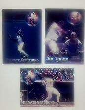 1997 Topps Screen Plays Private Screening Frank Thomas Thome Williams Promo Set