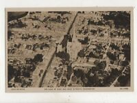 Air View Of East & West Streets Chichester Sussex Vintage RP Postcard 543b