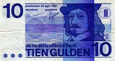 05 Netherlands / Niederlande P91a 10 Gulden 1968 BULLSEYE