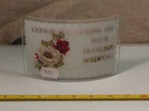 Glass Vintage Ornament Congratulations on Your Diamond Wedding Keepsake Gift
