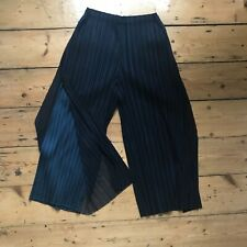 Issey Miyake Pleats Please Cropped Fluid Trousers, Size 3