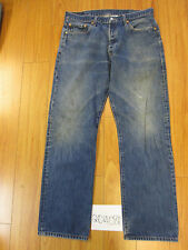 used levi 501 feathered tag 38x34 meas 35x33 grunge jean 20408F