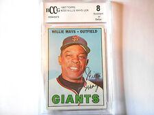 Willie Mays GRADED CARD!!! Beckett BCCG 8!! 1967 Topps #200 San Fransisco Giants