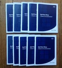 x10 Accu-Chek Self-Test Diary Diabetic Glucose Log Book - Pack of 10 Logbooks