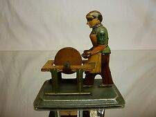 TIN TOY BLECH GERMANY US ZONE GRINDER STEAM ENGINE TOY - GREEN H11.0cm - GOOD