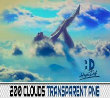 200 CLOUDS SKY TRANSPARENT PNG DIGITAL PHOTOSHOP OVERLAYS BACKDROPS BACKGROUNDS