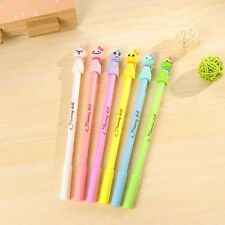 4Pcs Cute Cartoon Teru Teru Bozu Gel Ink Pen Ballpoint Student Office Supply Pro