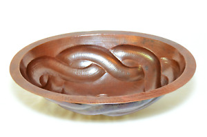 """COPPER SINK 19"""" OVAL ROPE"""