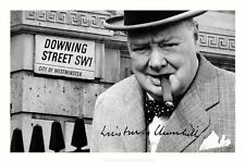 WINSTON CHURCHILL AUTOGRAPHED SIGNED A4 PP POSTER PHOTO 1