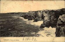 Cascaes Cascais au portugal AK 1906 Bocca do Inferno côte Coast tourné affranchi