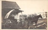C13/ Franklinville New York NY Real Photo RPPC Postcard c1910 Horse Buggy 2