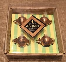 Old Dutch Solid Copper Place-card Holders NOS In Box Rare