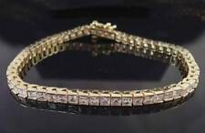 Yellow Gold Simulated Tennis Costume Bracelets