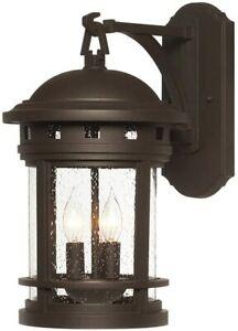 NEW IN BOX! Designers Fountain 3 Light Wall Lantern Sconce Sedona Lighting $149
