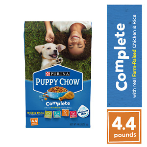 Purina Puppy Chow Complete Nutrition Formula Dry Dog Food 4.4 lbs  BB 3/22  DDF2