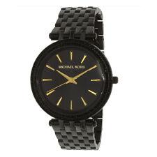 100%25 New Michael Kors MK3337 Darci Black Ion-plated Quartz Analog Women's Watch