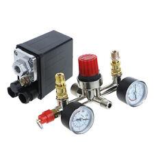 Air Compressor Heavy Duty Regulator Pump Pressure Control Switch+Valve Gauge