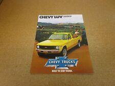 ORIGINAL 1979 Chevrolet LUV pickup truck sales brochure 8 pg literature