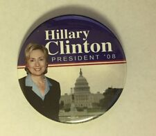 2008 Hillary Clinton for President Pin