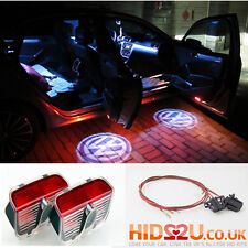 2 VW CREE LED CAR DOOR COURTESY PUDDLE PROJECTOR LOGO SHADOW LIGHT *WITH WIRES*