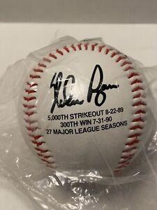 Nolan Ryan Signed 5000th Strikeout 8-22-89 Commemorative Baseball
