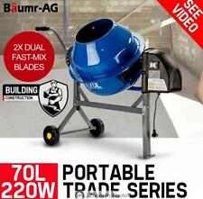 70L 220W Portable Electric Construction Sand Gravel Cement Concrete Mixer