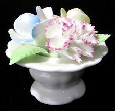 Vtg Royal Doulton Bone China Flower Pot Urn Bouquet Rose Dandelion Hand Painted