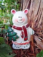 """Latex holiday bear mold plaster concrete casting mould  4.5""""H x 3""""W"""