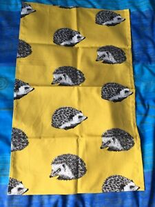 New Hedgehogs Yellow Tea Towel
